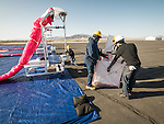 Project Loon balloon launch with Google at the Winnemcuca Municipal Airport, Nev.