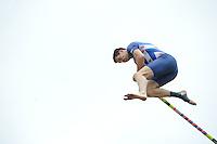 FIERLJEPPEN: IT HEIDENSKIP: 03-06-2013, 1e Klas wedstrijd, Senioren Topklasse, winnaar Bart Helmholt 21,21m, ©foto Martin de Jong
