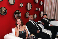 28 April 2006: Kate Walsh and James Pickens sit on the couch in the exclusive behind the scenes photos of celebrity television stars in the STAR greenroom at the 33rd Annual Daytime Emmy Awards at the Kodak Theatre at Hollywood and Highland, CA. Contact photographer for usage availability.