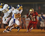 Oxford High's Parker Adamson (3) runs at William L. Buford Stadium in Oxford, Miss. on Friday, September 2, 2011. Lafayette won 40-12