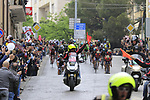 The peloton pass through Nuoro during Stage 2 of the 100th edition of the Giro d'Italia 2017, running 221km from Olbia to Tortoli, Sardinia, Italy. 6th May 2017.<br /> Picture: Eoin Clarke | Cyclefile<br /> <br /> <br /> All photos usage must carry mandatory copyright credit (&copy; Cyclefile | Eoin Clarke)