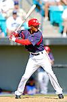 15 March 2006: Damian Jackson, infielder for the Washington Nationals, at bat during a Spring Training game against the New York Mets. The Mets defeated the Nationals 8-5 at Space Coast Stadium, in Viera, Florida...Mandatory Photo Credit: Ed Wolfstein..