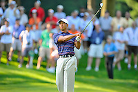 Tiger Woods watches his second shot sail towards the green during the second round of the AT&T National at the Congressional Country Club in Bethesda, MD on Friday, July 3, 2009.  Alan P. Santos/DC Sports Box.Tiger WoodsTiger Woods