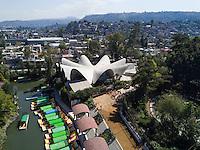 Felix Candela building. Milpa Alta, Xochimilco, Mexico City, Mexico