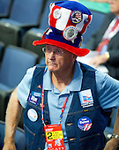 Unidentified delegate from Montana listens to remarks at the 2012 Republican National Convention in Tampa Bay, Florida on Tuesday, August 28, 2012.  .Credit: Ron Sachs / CNP.(RESTRICTION: NO New York or New Jersey Newspapers or newspapers within a 75 mile radius of New York City)
