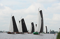 ZEILEN: GROU: 28-06-2014, Jubileumwedstrijd Leeuwarder Skûtsje, ©foto Martin de Jong