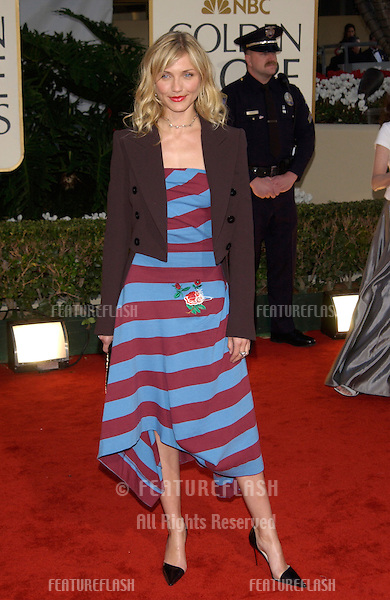 Actress CAMERON DIAZ at the 59th Annual Golden Globe Awards in Beverly Hills..20JAN2002.© Paul Smith/Featureflash