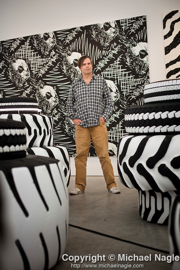 NEW YORK -  SEPTEMBER 11, 2010:  Artist Rob Pruitt poses for a portrait at Gavin Brown's enterprise on September 11, 2010 in New York City.  (PHOTOGRAPH BY MICHAEL NAGLE)