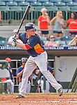 20 March 2015: Houston Astros catcher Max Stassi in Spring Training action against the Washington Nationals at Osceola County Stadium in Kissimmee, Florida. The Astros fell to the Nationals 7-5 in Grapefruit League play. Mandatory Credit: Ed Wolfstein Photo *** RAW (NEF) Image File Available ***