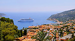 Big and luxury cruising ship &quot;Pullmantur&quot; in French riviera between Saint Tropez and Monaco.