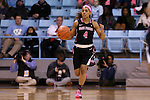 19 February 2015: Wake Forest's Mykia Jones. The University of North Carolina Tar Heels hosted the Wake Forest University Demon Deacons at Carmichael Arena in Chapel Hill, North Carolina in a 2014-15 NCAA Division I Women's Basketball game.
