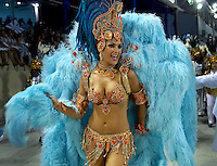 Natalia Guimaraes, Miss Brazil 2007, from Vila Isabel samba school performs at the Sambadrome during the samba school parade in Rio de Janeiro, Brazil, February 22, 2009.