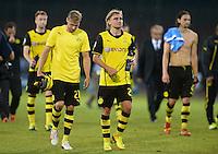 FUSSBALL   CHAMPIONS LEAGUE   SAISON 2013/2014   Vorrunde SSC Neapel - Borussia Dortmund      18.09.2013 Enttaeuschung Borussia Dortmund; Oliver Kirch (li) und Marcel Schmelzer (Mitte)