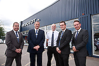 From left the management team at Bristol Street Motors Peugot: John Blanchard, Service Manager, Chris Hill, Sales Manager, Alan Perry, Parts Manager, Martin Chauntry, Business Manager and Andy Moss, General Manager