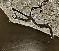 historical aerial photograph Newport Beach, California, 1995
