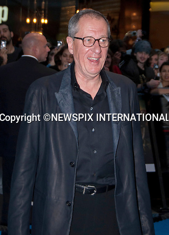 "Geoffrey Rush.Pirates Of The Caribean, On Stranger Tides Premiere at The Vue Cinema, Wetsfield London_12/05/2011.Mandatory Photo Credit: ©Shaw/Newspix International..**ALL FEES PAYABLE TO: ""NEWSPIX INTERNATIONAL""**..PHOTO CREDIT MANDATORY!!: NEWSPIX INTERNATIONAL(Failure to credit will incur a surcharge of 100% of reproduction fees)..IMMEDIATE CONFIRMATION OF USAGE REQUIRED:.Newspix International, 31 Chinnery Hill, Bishop's Stortford, ENGLAND CM23 3PS.Tel:+441279 324672  ; Fax: +441279656877.Mobile:  0777568 1153.e-mail: info@newspixinternational.co.uk"