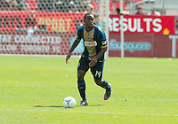 15 September 2012: Philadelphia Union midfielder Amobi Okugo #14 in action during an MLS game between the Philadelphia Union and Toronto FC at BMO Field in Toronto, Ontario..The game ended in a 1-1 draw..