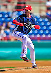8 March 2010: Washington Nationals' pitcher Scott Olsen on the mound during a Spring Training game against the Florida Marlins at Space Coast Stadium in Viera, Florida. The Marlins defeated the Nationals 12-2 in Grapefruit League action. Mandatory Credit: Ed Wolfstein Photo