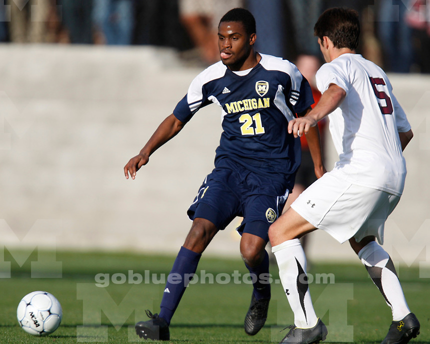 The University of Michigan men's soccer 3-1 victory over #18 South Carolina in Columbia, SC, on Sunday November 28th, 2010. The win advanced the team the Elite Eight Round of the 2010 NCAA Men's Soccer College Cup.