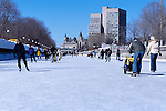 Skating on the Rideau Canal in Ottawa, Ontario, Canada.