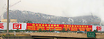 Asia, China, Beijing. Construction of the Bird Nest Stadium in Beijing for the 2008 summer Olympics.