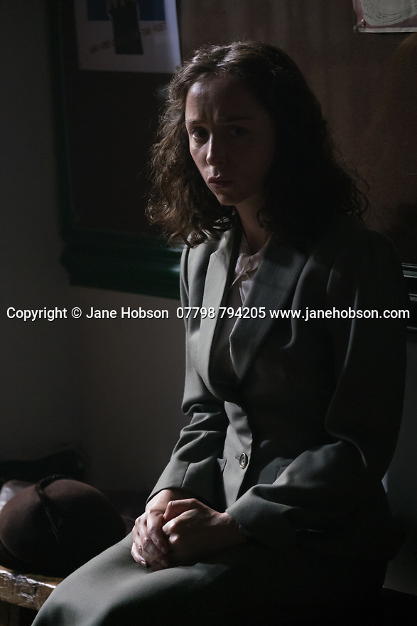 """London, UK. 29.07.2016. On the set of short film """"Little Bird"""", written by Emilly Taaffe, directed by Georgia Oakley, produced by Emily Taaffe and Rebecca Cronshey, Director of Photography Nanu Segal. Staring Emily Taaffe and Imelda Staunton. Picture shows: Emily Taaffe. Photograph © Jane Hobson."""