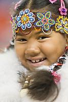 Alazae Waghiyi, Siberian Yupik,  Eskimo and Indian Regalia contest at the 2007 World Eskimo Indian Olympics held in Anchorage, Alaska.