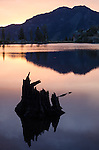 Dawn at Upper Kinney Lake, Toiyabe National Forest, California