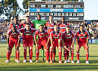 Santa Clara, California - Saturday July 28, 2012: Chicago Fire's Starting Line up before the start of match against San Jose Earthquakes at Buck Shaw Stadium, Stanford, Ca    San Jose Earthquakes and Chicago Fire tied 0 - 0