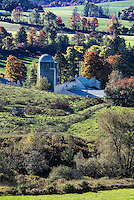 Scenic autumn farm, Madison, New York, USA