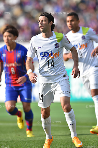 Mihael Mikic (Sanfrecce), APRIL 18, 2015 - Football /Soccer : 2015 J1 League 1st stage match between F.C. Tokyo 1-2 Sanfrecce Hiroshima at Ajinomoto Stadium in Tokyo, Japan. (Photo by AFLO)
