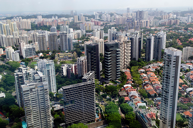 View of Singapore from the ION Orchard building