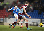 St Johnstone v Stenhousemuir&hellip;21.01.17  McDiarmid Park  Scottish Cup<br />Blair Alston shoots wide of the post<br />Picture by Graeme Hart.<br />Copyright Perthshire Picture Agency<br />Tel: 01738 623350  Mobile: 07990 594431