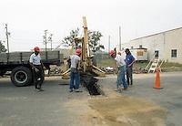 1991 October ..Conservation.MidTown Industrial..ROADWORK ON 25TH STREET...NEG#.NRHA#..