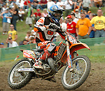 Motocross, MX2 WM 2004, Weltmeisterschaft, Grand Prix of Europe, Gaildorf (Germany) Joan Brabec (CZE), KTM