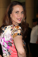 LOS ANGELES - AUG 2:  Andie MacDowell arrives at the Hallmark Channel TCA Press Tour 2012 at Beverly Hilton Hotel on August 2, 2012 in Beverly Hills, CA