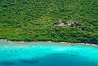 Aerial view of Annaberg Ruins<br /> Virgin Islands National Park<br /> St. John<br /> U.S. Virgin Islands