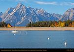 Colter Bay, Jackson Lake, Grand Tetons, Mount Moran, Bivouac Peak, Grand Teton National Park, Wyoming