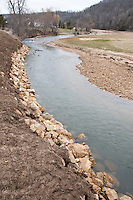 Stream bank repair done along the West Branch of the Kickapoo River in the Driftless Area of southwestern Wisconsin.