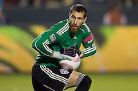 Goalkeeper Matt Pickens of the Colorado Rapids makes a save. The Colorado Rapids defeated the LA Galaxy 3-2 at Home Depot Center stadium in Carson, California on Saturday October 16, 2010.