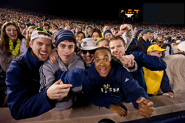 Nov. 17, 2012; The Student section cheers during the Wake Forest game.