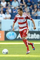 Blas Perez (9) FC Dallas forward in action... Sporting KC defeated FC Dallas 2-1 at LIVESTRONG Sporting Park, Kansas City, Kansas.