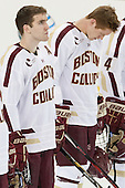 Patrick Wey (BC - 6), Michael Matheson (BC - 5) - The Boston College Eagles defeated the visiting Dartmouth College Big Green 6-3 (EN) on Saturday, November 24, 2012, at Kelley Rink in Conte Forum in Chestnut Hill, Massachusetts.
