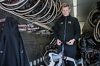 Andr&eacute; Greipel (DEU/Lotto-Soudal) personally checking his bike to be race-ready<br /> <br /> Team Lotto-Soudal final prep for Paris-Roubaix 2017 1 day before the race