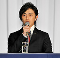 "Ryo Katsuji, Nov 29, 2011 : November : Tokyo, Japan, Japanese actor Ryo Katsuji appears at a press conference for the film ""Kita no Kanaria tachi"" in the Tokyo."