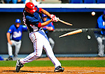 3 March 2009: Washington Nationals' third baseman Matt Whitney breaks his bat in the fourth inning against Italy during a Spring Training exhibition game at Space Coast Stadium in Viera, Florida. The Nationals defeated Italy 9-6. Mandatory Photo Credit: Ed Wolfstein Photo
