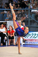 Therese Larsson of Sweden performs with hoop at 2010 Holon Grand Prix at Holon, Israel on September 3, 2010.  (Photo by Tom Theobald).