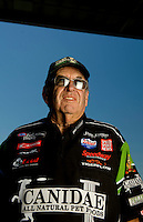 Sept. 5, 2010; Clermont, IN, USA; NHRA funny car owner Jim Dunn during qualifying for the U.S. Nationals at O'Reilly Raceway Park at Indianapolis. Mandatory Credit: Mark J. Rebilas-