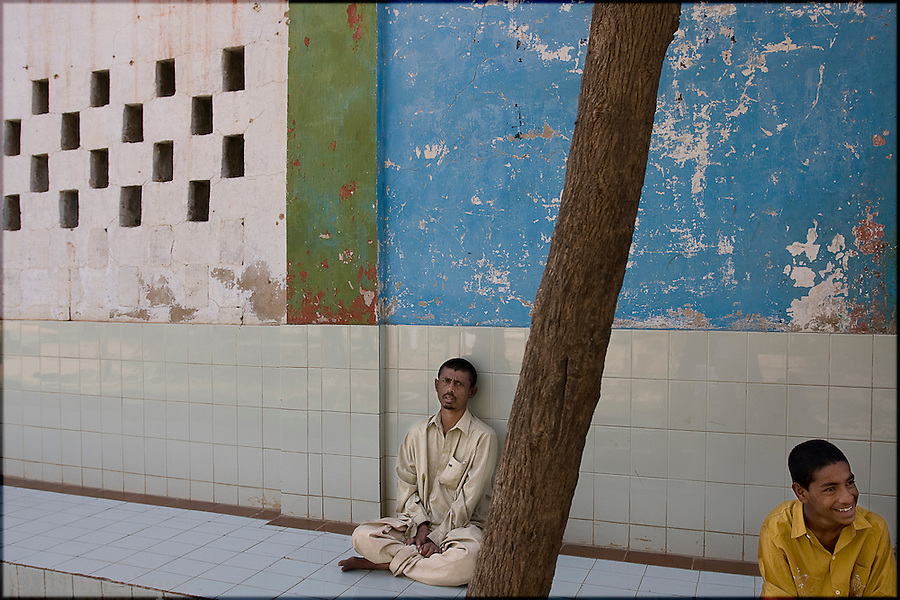 At the Edhi Home (Super Highway) - the facility, the largest in the country, houses young children, mentally ill, drug addicts and the abandoned.  it remains the only facility of its kind in the country.