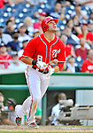 16 June 2012: Washington Nationals second baseman Danny Espinosa in action against the New York Yankees at Nationals Park in Washington, DC. The Yankees defeated the Nationals in 14 innings by a score of 5-3, taking the second game of their 3-game series. Mandatory Credit: Ed Wolfstein Photo